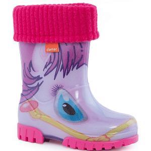 Резиновые сапоги Twister Lux Print для девочки DEMAR. Цвет: белый