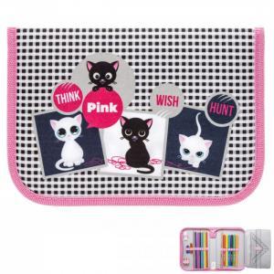 Пенал для девочки Nature Quest collection Think pink с наполнением Tiger Enterprise