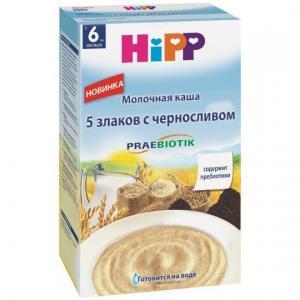 Каша  молочная 5 злаков с черносливом 6 месяцев 50 г Hipp