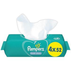 Детские влажные салфетки  Fresh Clean, 4 х 52 шт Pampers
