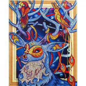Алмазная картина с фигурными стразами Сказочный олень Color Kit