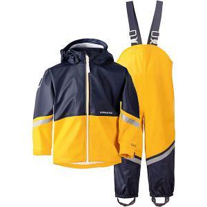 Комплект Didriksons Waterman: куртка и полукомбинезон. Цвет: желтый