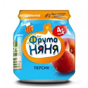 Пюре  персик с 4 месяцев, 100 г ФрутоНяня