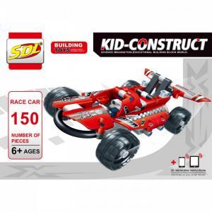 Конструктор  Kid-Construct Гоночный болид (150 деталей) SDL