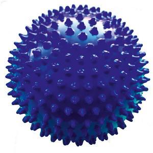Мяч ёжик синий, 6,5 см, МалышОК