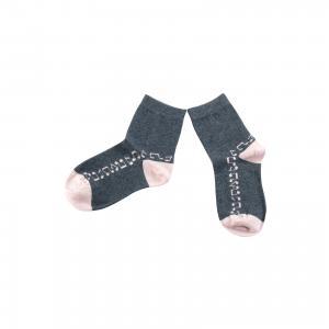 Носки для девочки Wojcik. Цвет: серый
