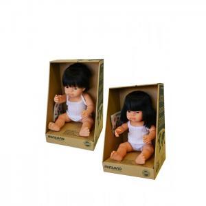 Набор кукол Близнецы мальчик и девочка азиаты 38 см Miniland