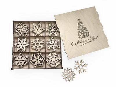 Набор деревянный для творчества Новогодние украшения 7 Lemmo
