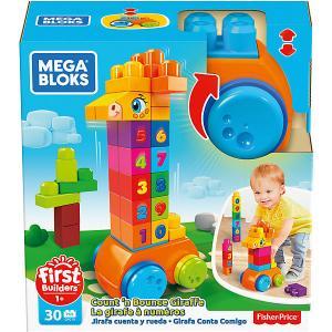 Конструктор Mega Bloks First Builders Жираф 123