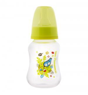 Бутылочка  полипропилен с рождения, 125 мл, цвет: салатовый Мир Детства