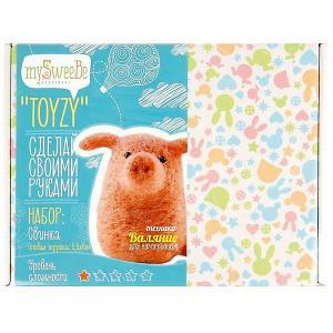 Набор для валяния Toyzy Свинка. Цвет: разноцветный