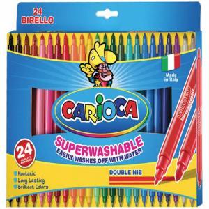Фломастеры  Berillo двухсторонние 24 цвета Carioca