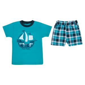Комплект футболка/шорты , цвет: бирюзовый M&D