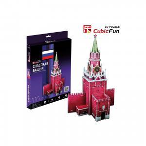 Пазл 3D Спасская башня, 33 детали, CubicFun