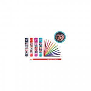 Цветные карандаши в тубе, 12 цветов (дизайн тубы ассортименте) Schreiber