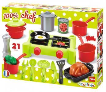 Chef Набор плита с продуктами (21 предметов) Ecoiffier