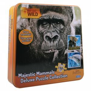 Пазл 3 в одном жестяной коробке Nat Geo Wild Games & Puzzles 16446 150 элементов Uncle Milton