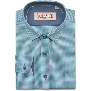 Рубашка Imperator. Цвет: бирюзовый
