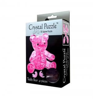 Головоломка 3D  Мишка розовый цвет: Crystal Puzzle