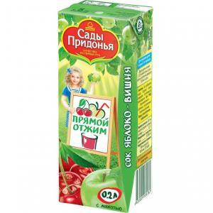 Сок  яблоко-вишня, 200 мл Сады Придонья