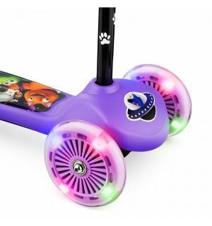 Самокат  Cosmic Zoo Scooter Flash, цвет: фиолетовый Small Rider
