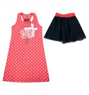 Комплект платье/юбка  Горох, цвет: розовый I Love To Dream