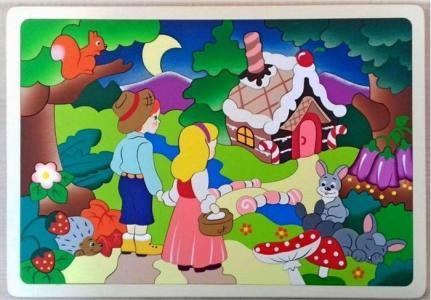 Деревянная игрушка  Мозаика-вкладыш Сказочный лес (92 детали) Крона