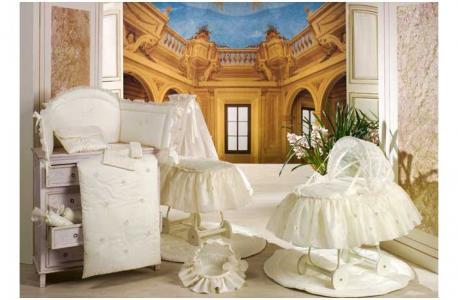 Постельное белье  Шелковые эмоции - комплект для кроватки: 2 простыни + наволочка BabyPiu