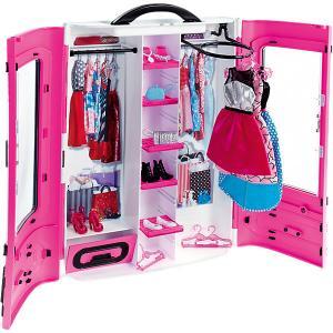 Мебель для куклы Barbie Шкаф модниц, розовый Mattel