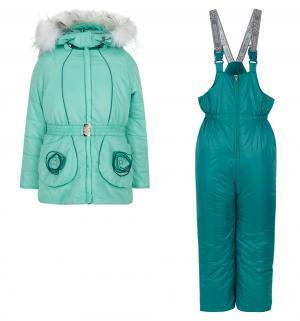Комплект куртка/брюки  Леденец, цвет: зеленый Аврора
