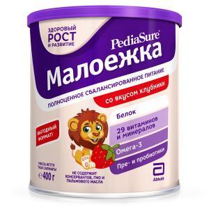 Полноценное сбалансированное питание  со вкусом клубники с 12 месяцев, 400 г PediaSure Малоежка