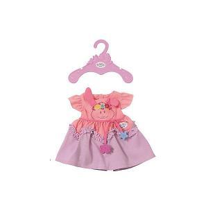 Платье для куклы BABY born, розово-сиреневое Zapf Creation. Цвет: розовый