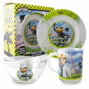 ND Play Набор стеклянной посуды Леди Баг и Супер Кот (3 предмета)