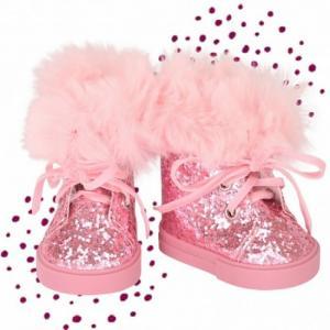Зимние ботинки с мехом и глитером для кукол 42-46 см Gotz