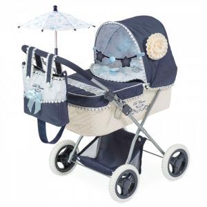 Коляска для куклы  с сумкой и зонтиком Романтик 60 см DeCuevas