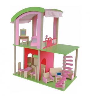 Кукольный домик Флоренция с мебелью и куклами Craft