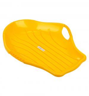 Санки  Снежный скат, цвет: желтый Пластик