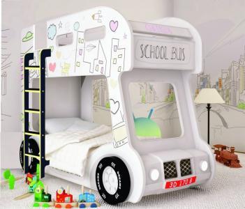 Подростковая кровать  двухъярусная Compact автобус Сити Red River