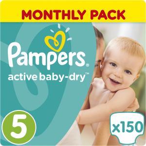 Подгузники  Active Baby-Dry 11-16 кг, 150 шт Pampers. Цвет: weiß/beige
