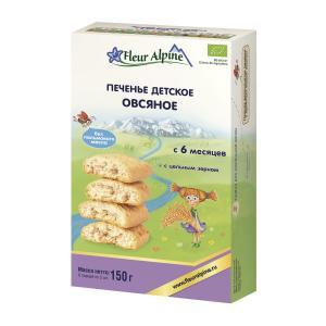Печенье  Organic овсяное, 150 г, 1 шт Fleur Alpine