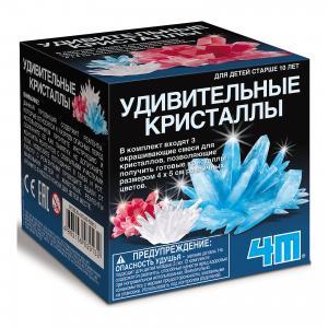 Набор для опытов  Лаборатория кристаллов Сделай свой цвет 4M