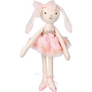 Мягкая игрушка  Зайка тильда, 36 см, бело-розовая Angel Collection. Цвет: розовый/белый