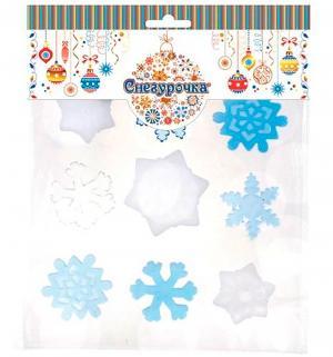 Набор наклеек  Снежинки гелевые Снегурочка
