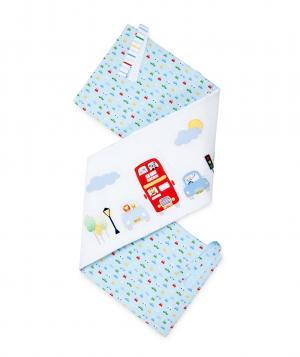 Бампер в кроватку  дороге, цвет: голубой Mothercare