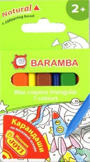 Набор восковых карандашей  треугольные 7 шт. Baramba