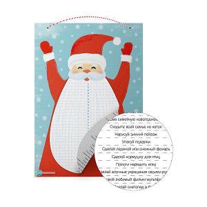 Адвент-календарь Cute'n Clever Дед Мороз, с отрывной бородой Cute'n. Цвет: разноцветный