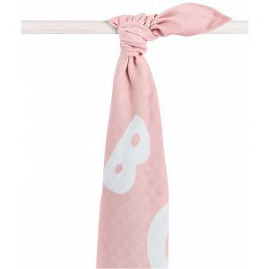Муслиновая простынка-полотенце Jollein, розовая, XL 140x200 см jollein. Цвет: розовый