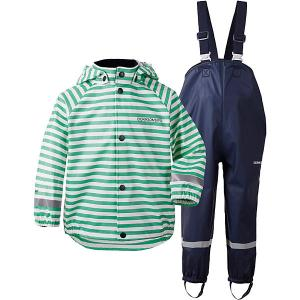Непромокаемый комплект: куртка и брюки SLASKEMAN PRINT DIDRIKSONS1913. Цвет: зеленый