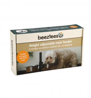 Комплект для щенков  подставка регулируемая+2 миски, 450мл*13см Beeztees
