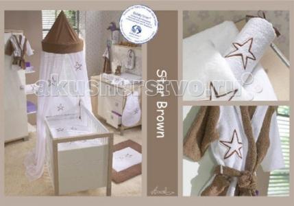 Постельное белье  Baby Star Brown (2 предмета) Anel